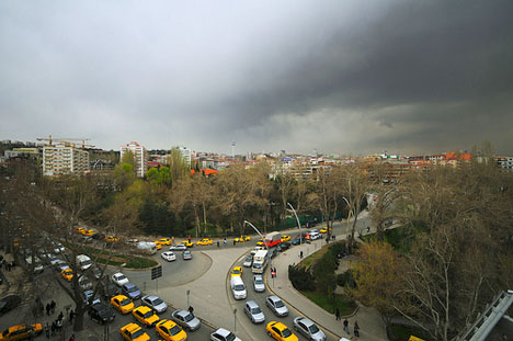 Traffic in Turkey's capital, Ankara, is one factor that contributes to its air pollution problem.  Source: Google Images