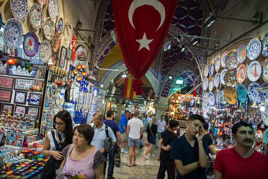 The Grand Bazaar in Istanbul, Turkey. Image Source: Bloomberg News, via Wall Street Journal